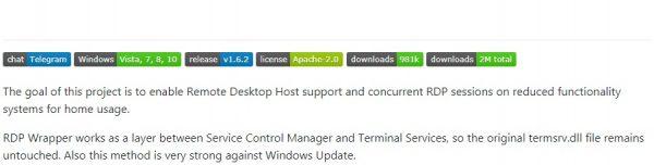 Verbinding met extern bureaublad Windows 10 Home