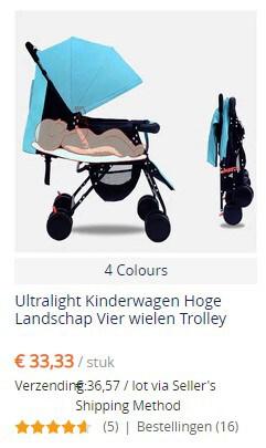 Kinderwagen bij AliExpress - klein budget