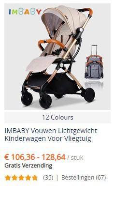 Opvouwbare kinderwagen bij AliExpress - gratis verzending
