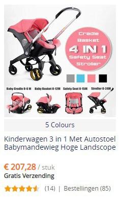 Uitklapbare Maxi Cosi kinderwagen bij AliExpress - gratis verzending