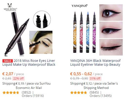 beste aliexpress makeup - eyeliner