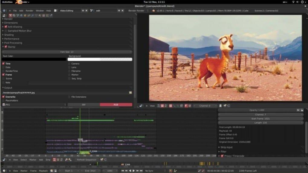 gratis video editor - Blender