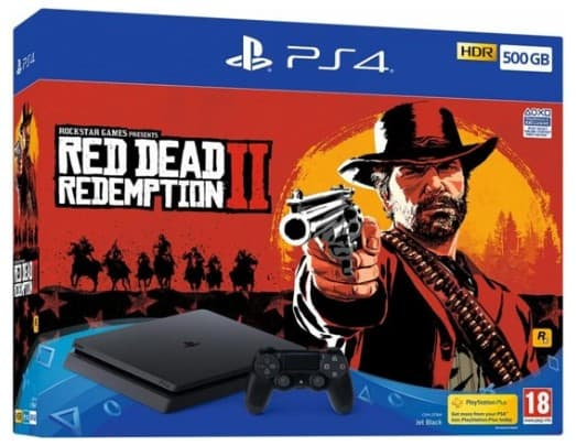Playstation 4 Console - 500GB (Red Dead Redemption 2)