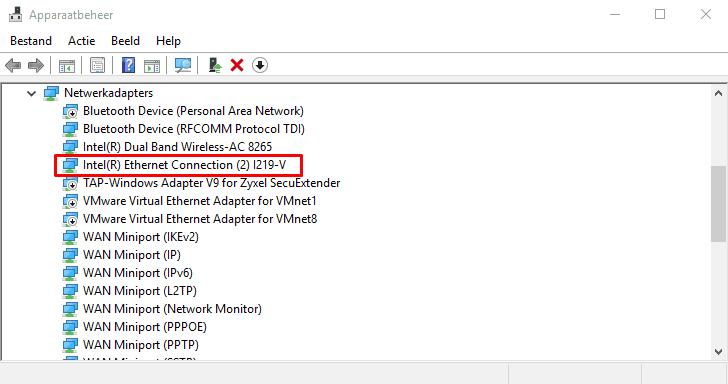apparaatbeheer - lijst met apparaten van je computer