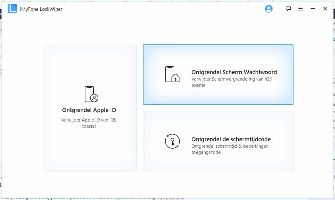 iCloud verwijderen zonder wachtwoord - beginscherm 1