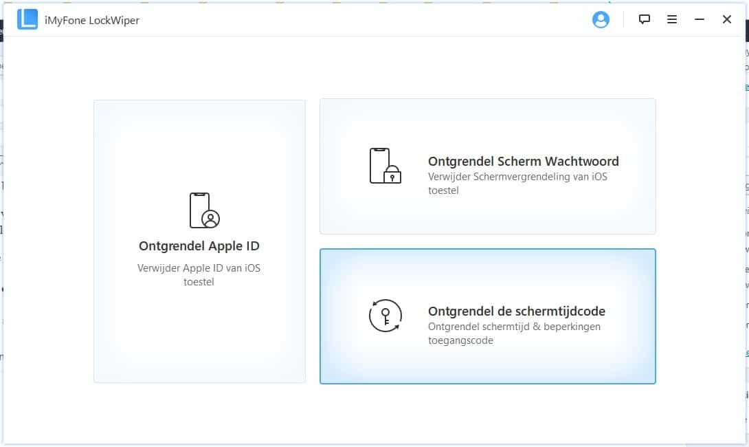 iCloud verwijderen zonder wachtwoord - beginscherm