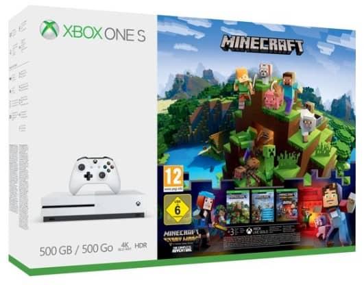 Xbox One S console 500 GB + Minecraft