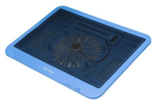 Sommige laptop koelers zoals deze, hebben een koeler die tegen de onderkant blaast
