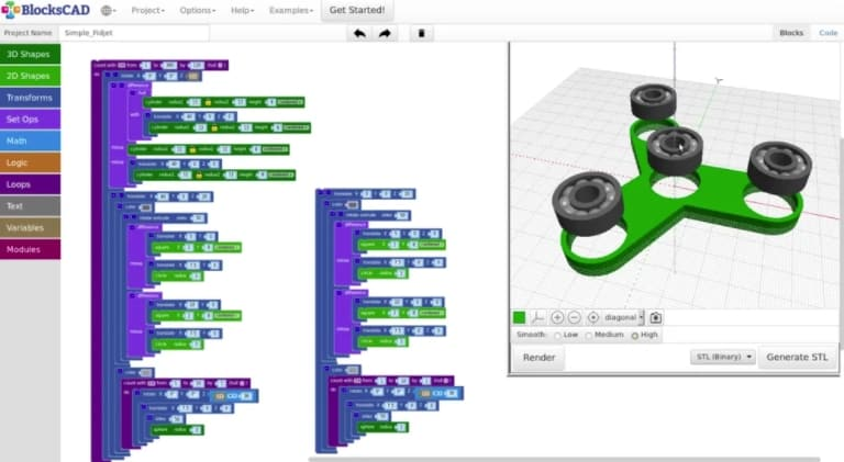 BlocksCad - gratis modeleersoftware voor beginners