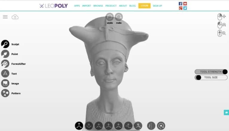 Leopoly - gratis 3d modeleersoftware voor beginners