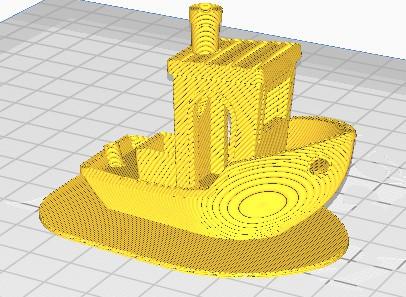 Voorbeeld van een 'raft', een extra plak onder je model