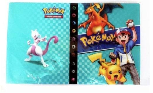 4 pocket pokemon verzamelmap met charizard en pikachu op de voorkant