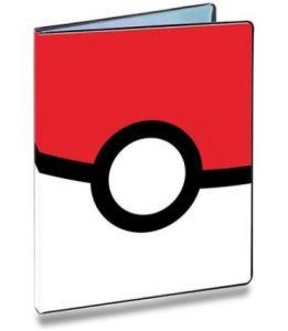 Pokeball pokemon verzamelmap rood boven wit onder