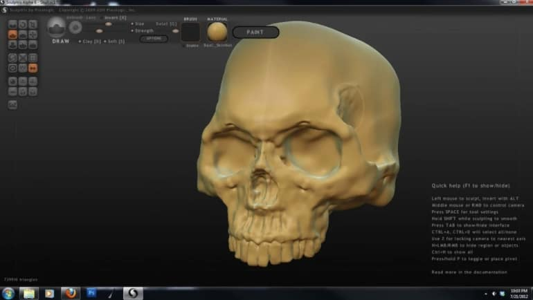 Sculptris - gratis 3d modeleersoftware voor beginners
